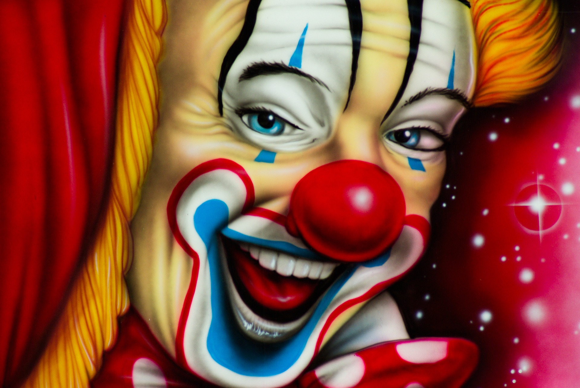 a clown's face